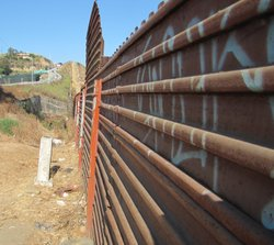 The fence near the U.S.-Mexico border in Tijuana.