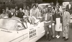 Daisy Bates in a parade.