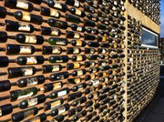 How do you build a wall at a vintner school? With wine bottles of course! The local university holds classes in this facility in Valle de Guadalupe.