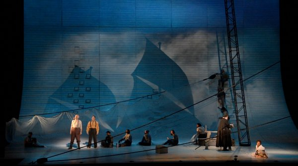 "Robert Brill's set design for ""Moby-Dick."""