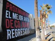 A sign announcing a new club in Ciudad Jurez.
