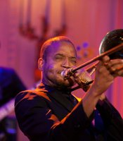 Troy &quot;Trombone Shorty&quot; Andrews performs as President Barack Obama and First Lady Michelle Obama host IN PERFORMANCE AT THE WHITE HOUSE &quot;Red, White And Blues&quot; in celebration of Blues music in the East Room of the White House, Feb. 21, 2012.