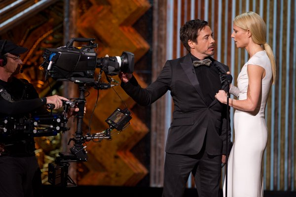A gag that was funny but awkward and way too long involving Robert Downey, Jr (funny) and Gwenyth Paltrow (not so much).