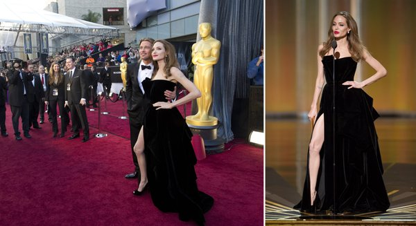 And now ladies and gentlemen... Angelina Jolie's right leg.
