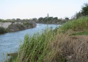 A view of the Rio Grande River from a 445-acre ranch for sale in Hidalgo County, TX.