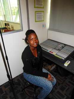 High Tech High senior Siariah Loyd, who made a sound story for her digital arts class. 