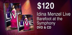 "Give at the $120 membership level and receive the ""Idina Menzel Live: Barefoot At The Symphony"" DVD and CD.  This gift also includes enrollment in the myKPBS Savers Club plus additional online access to more than 130,000 merchant offers and printable coupons, as well as a KPBS license plate frame (if you're a new member)."