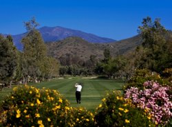 A fairway on the golf course near the Sycuan Casino on the tribe's reservation in East San Diego County.