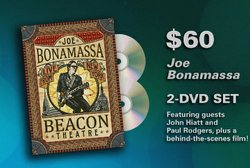"Give at the $60 level during our membership campaign and receive the ""Joe Bonamassa: Beacon Theatre - Live from New York"" 2-DVD set."