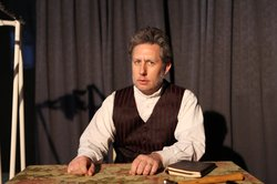 "Charles Peters is Henrik Ibsen in Ion's production of ""Heddatron."""