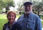 Irene Rosales and her husband, John.