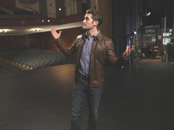 "Matthew Morrison, star of the television series ""Glee,"" taped his host segments for ""Oscar Hammerstein II - Out Of My Dreams"" at the vintage Wilshire Ebell Theatre in Los Angeles."