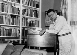 Oscar Hammerstein, the most acclaimed lyricist and librettist of the 20th century, at home.