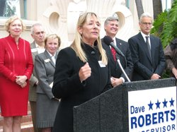 Former San Diego City Councilwoman Donna Frye is among those to endorse Dave Roberts for the 3rd District Supervisor&#39;s seat on the County Board, March 15th 2012