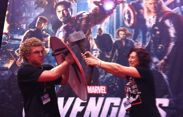 At the Marvel booth.