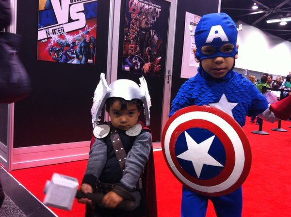 Tiny superheroes.