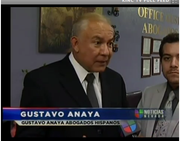 Gustavo Anaya was interviewed by the local Entravision station in Aug. 2011. He also advertised on the channel.