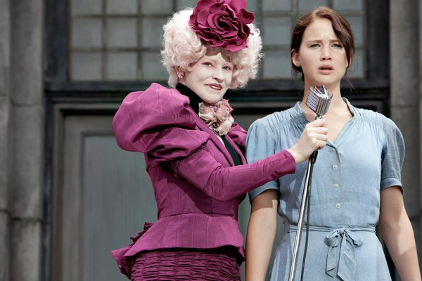 "Elizabeth Banks and Jennifer Lawrence in ""The Hunger Games."""