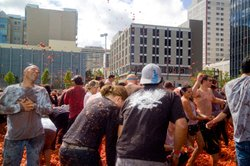 La Tomatina en Reno, America's biggest tomato fight.