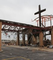 Damaged church in Joplin, Missouri.