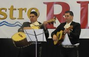 Las Vegas mariachi musicians perform the new song on April 12.