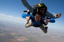 AMERICA REVEALED host Yul Kwon skydiving.