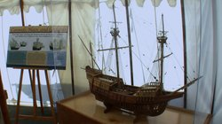 This model shows what the San Salvador replica will look like when competed.