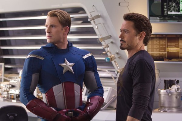 Chris Evans and Robert Downey, Jr. balance each other well in Joss Whedon&#39;s &quot;The Avengers.&quot;