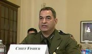 Border Patrol Chief Michael Fisher testifies before a congressional subcommittee.