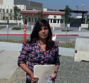 Flor Jacqueline before her appointment at the U.S. Consulate in Tijuana to apply for her U.S. passport. It was eventually approved.