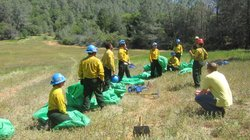 Veterans Learn How to Use Fire Shelters While Training in Sierra Foothills Town of Auburn.