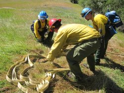 Veterans Get Trained By CA Conservation Corps near Sierra foothills town of Auburn.