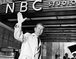 Johnny Carson outside the NBC studios, circa 1967.