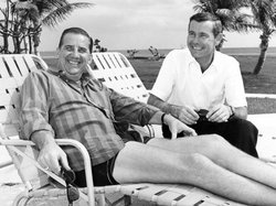 Ed McMahon and Johnny Carson in Florida, circa 1960s.
