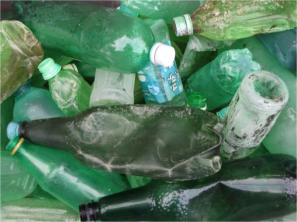 Plastic debris collected from beaches.