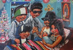 &quot;Familia&quot; by Teen Angel is part of the exhibition &quot;Cruisin&#39; Califas: The Art of Lowriding&quot; at the Oceanside Museum of Art.