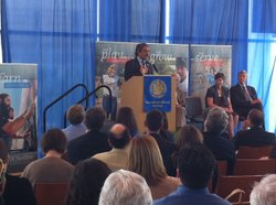 New UC San Diego Chancellor Pradeep Khosla is introduced to the public for the first time.