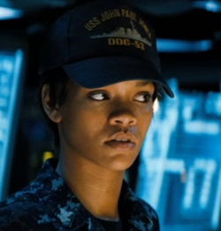 "Rhianna in ""Battleship"""