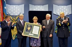 Army Spc. Leslie Sabo Hall of Heroes induction