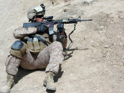 Camp Pendleton Marine in Afghanistan