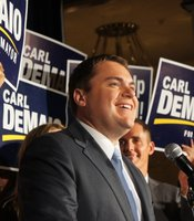 Carl DeMaio speaks to supporters on Election Night.