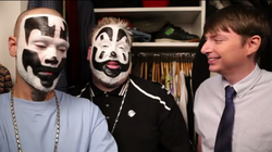 "Mike O'Brien interviews members of Insane Clown Posse in ""7 Minutes in Heaven."""