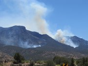 Smokes rises from the Whitewater-Baldy wildfire burning in the Gila Wilderness of southern New Mexico.