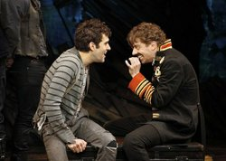 Tony winner Christian Borle as Black Stache and Adam Chanler-Berat as The Boy (who would not grow up!)