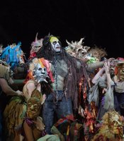 "A scene from ""The Enchanted Island"" with Luca Pisaroni as Caliban."