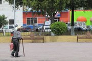 Daily life in the main plaza of San Fernando, Tamaulipas, Mexico. Plazas like this are often where gang fights take place.