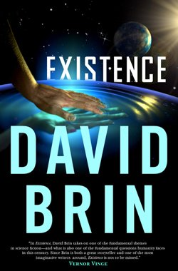 "David Brin's newest science-fiction novel ""Existence."""