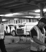 Longshoremen from the ILWU offload cars aboard the Jinsei Maru on Wednesday, June 19, 2012.