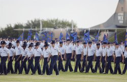 Basic Military Training graduation parade at Lackland Air Force Base