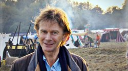 Michael Wood at the Battle of Hastings re-enactment day.